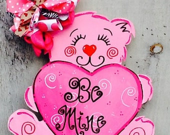 Valentines sign, valentines door hanger, valentines decoration