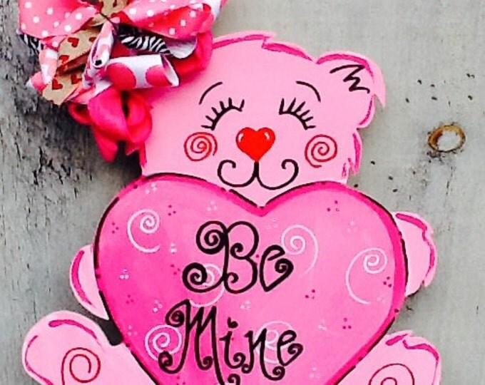 Valentines sign, valentines door hanger, valentines decoration