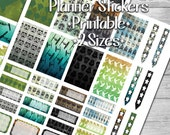 Star Heroes Water Color Weekly Kit Sticker Printable- 2 PAGES- 2 Sizes- Digital File