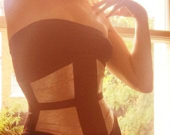 Corset Pattern! Bella - a ribbon hybrid waist cincher pattern size (UK) 10-20, (US) 6-16