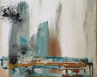 Abstraktion IV - ORIGINAL mixed media painting on canvas - uooops - art - home decor