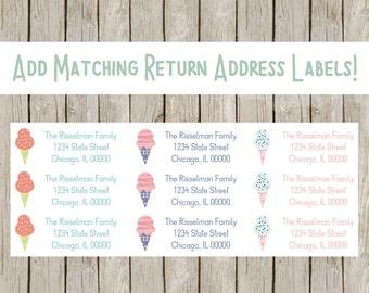 Add Matching Return Address Labels To Any Order, Return Address Labels, Custom Address Labels. Printable Address Labels