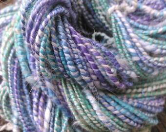 Handspun yarn angora milk fiber silk