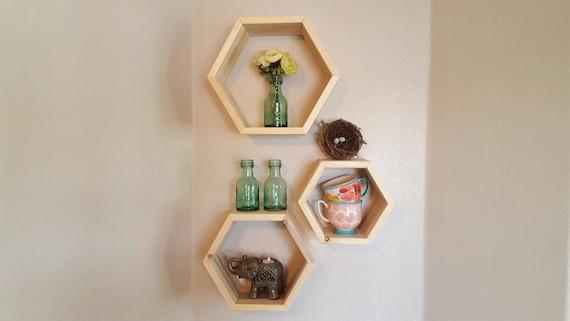 Honeycomb Hexagon Shelf Cubbies Wall Decor Wall Shelf Box Set
