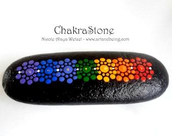 Dot painted Chakra Stone