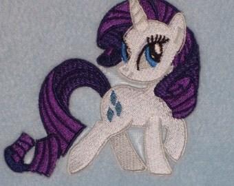 Personalised Fleece Baby Blanket - Rarity My Little Pony Design (197)