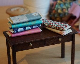 Dolls House Miniature Fabric Bolts