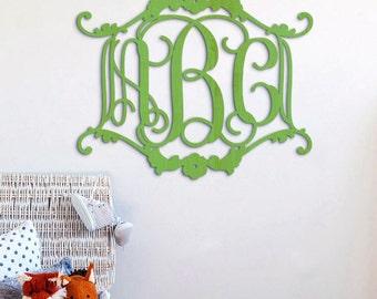 Wooden Monogram - Unpainted Wood Monogram - Wedding Monogram - Nursery Decor - Wedding Guest Book - Wall Decor - Monogram Sign