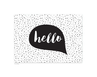 "Postcard ""Hello"" card - A6"