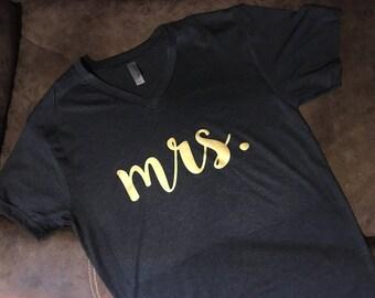 Mrs. Custom Shirt - Wedding Bridal