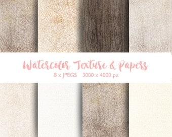 Watercolor Texture and Papers/Wood texture/Rustic style/weeding