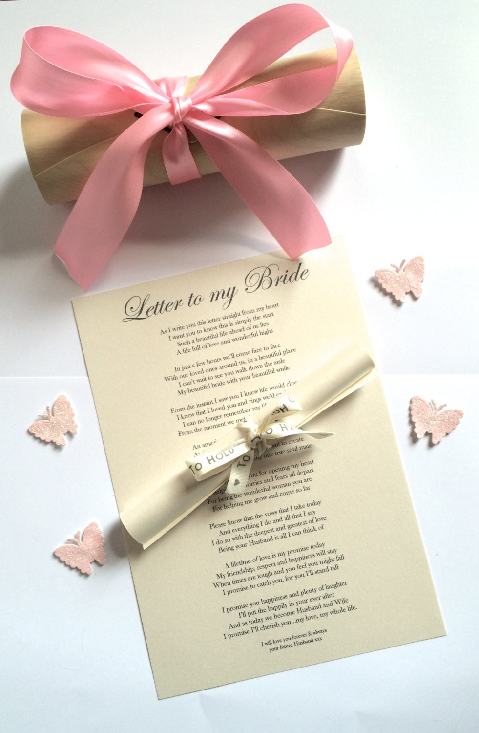 Wedding Gift for Bride from Groom on Wedding Day Personalised