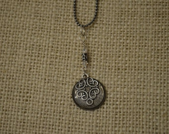 Swirl Pendant with a 1953 Sixpence Coin