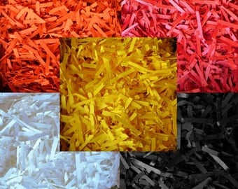Cardstock Shred - Mix and Match Colors - Shredded Paper - Shred - Basket Fill - Easter Grass - Shred - Confetti