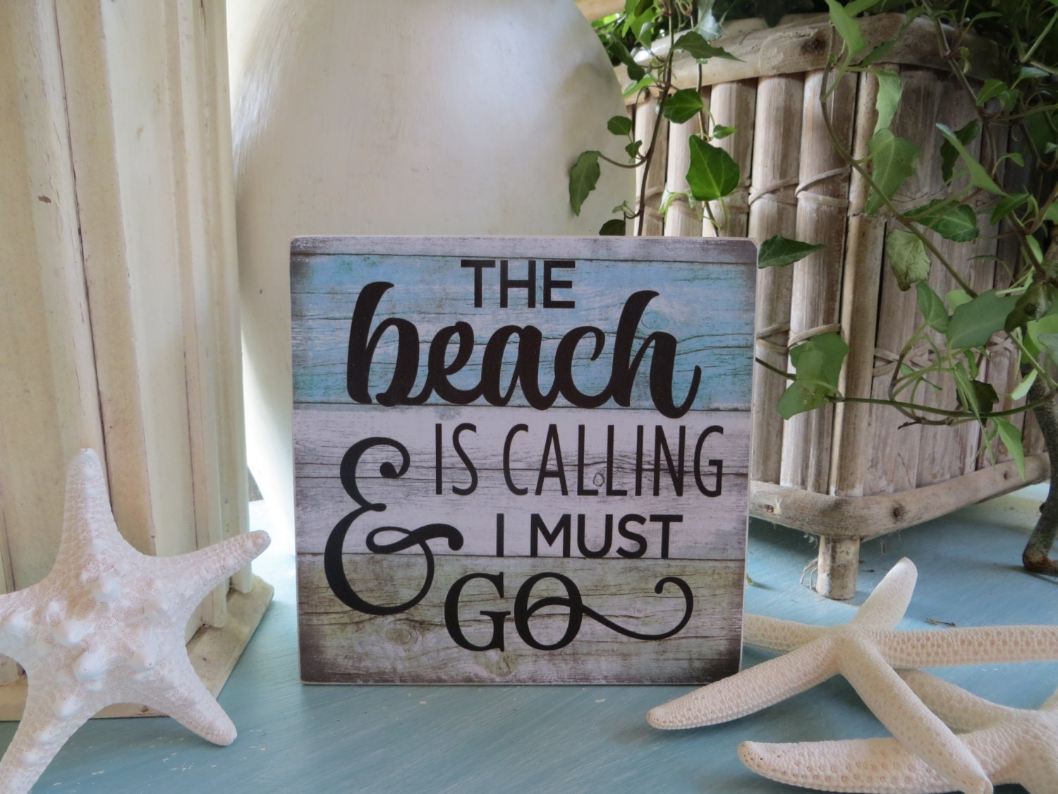 Wood Sign Wood Beach Sign The Beach Is Calling And I