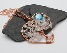Tree-Of-Life  Copper pendant, Wire Wrapped Pendant Wired Copper ,