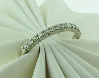 Vintage Diamond Wedding Band 14 K Gold