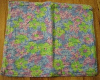 Baby Burp Cloth / Pet Carrier Liner / Blue,Green,Purple Flowers