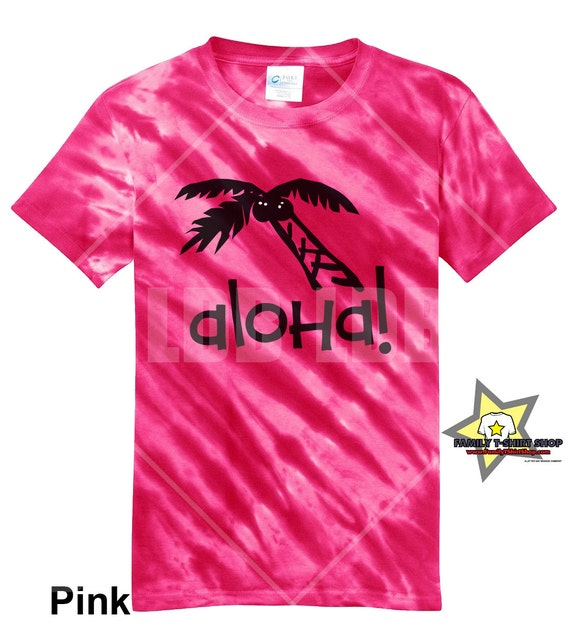 Aloha Palm Tree Hawaiian Tie Die T-Shirt