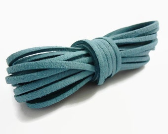 5mtrs Turquoise Faux Suede Cord