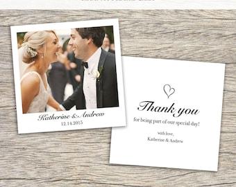 Thank you wedding cards Polaroid Style (50x)