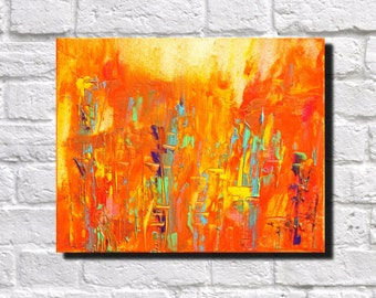 Abstract Print Modern Art Contemporary Abstract Orange Urban Cityscape Architecture Art Print James Lucas