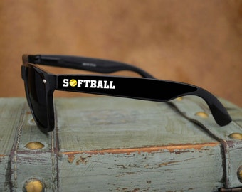 Softball Black Wayfarer Sunglasses - 49684