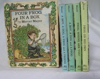 Four Frogs in a Box, Mercer Mayer, Marianne Mayer book set, Children's books