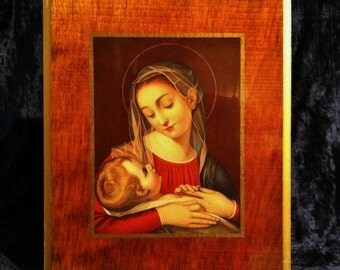 Vintage Madonna And Child Icon