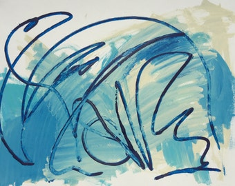 Clean Water Flow - for UNICEF Original Art Print-from-Home Digital Download