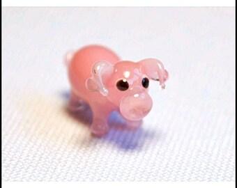 Pig - Cute Glass Super Mini Figurine