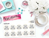 "MCM MANTRAS: ""Here's Your Reminder..."" Paper Planner Stickers!"