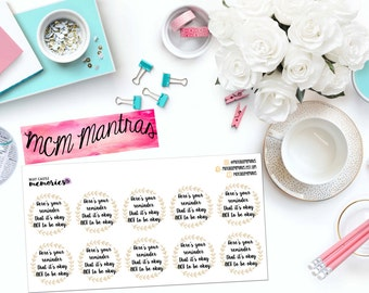 """MCM MANTRAS: """"Here's Your Reminder..."""" Paper Planner Stickers!"""