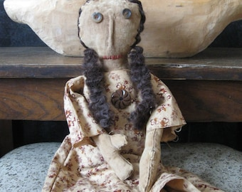 Primitive Doll Grace, Primitive Dolls, Primitive Rag Doll, OOAK, FAAP, OFG. HAFair