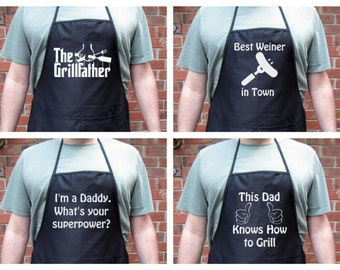 Personalized Father's Day Grill Apron for Dad