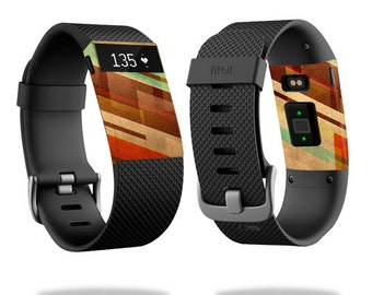 Skin Decal Wrap for Fitbit Blaze, Charge, Charge HR, Surge Watch cover sticker Abstract Wood