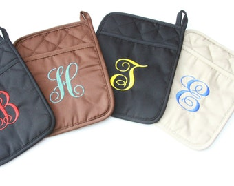 Personalized Pocket Potholder ....choice of colors