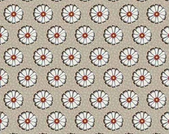 1 yard Vintage Flowers - Grey - from Adornit