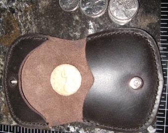 Elegant Veg Tan Leather Coin purse Pouch