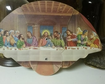 The Last Supper - Funeral Home Advertising Fan - Harris Funeral Home, Highland, Illinois