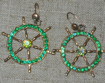 Vintage nautical earrings from early 60s