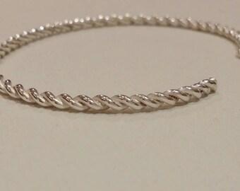 Twisted Silver bracelet.