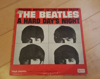RARE A Hard days Night, The BEATLES 60s Vintage Vinyl Album