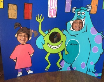 Monsters Inc Party- Monsters Inc Birthday- Monsters Inc Decor- Monsters Inc Photo Prop- Monsters Inc Face In Hole- Monsters Inc Sully Mike