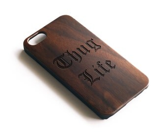 iPhone 6 Plus Cases, Real Wood, iPhone 6S Case, iPhone 6S, iPhone 6 Plus Case, iPhone 6 Plus, Thug Life, Walnut Wood, For Her, For Him