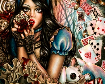 Alice in Wonderland Fine Art Print 6x8