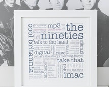 Personalised 21st Birthday Gift; The 1990s; 21st;  You're 21; The Nineties; Take That; PAP007