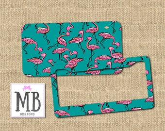 Flamingo License, Vanity License Plate, Flamingo gift, flamingo car, flamigo accessory, flamingo, license holder, front license plate
