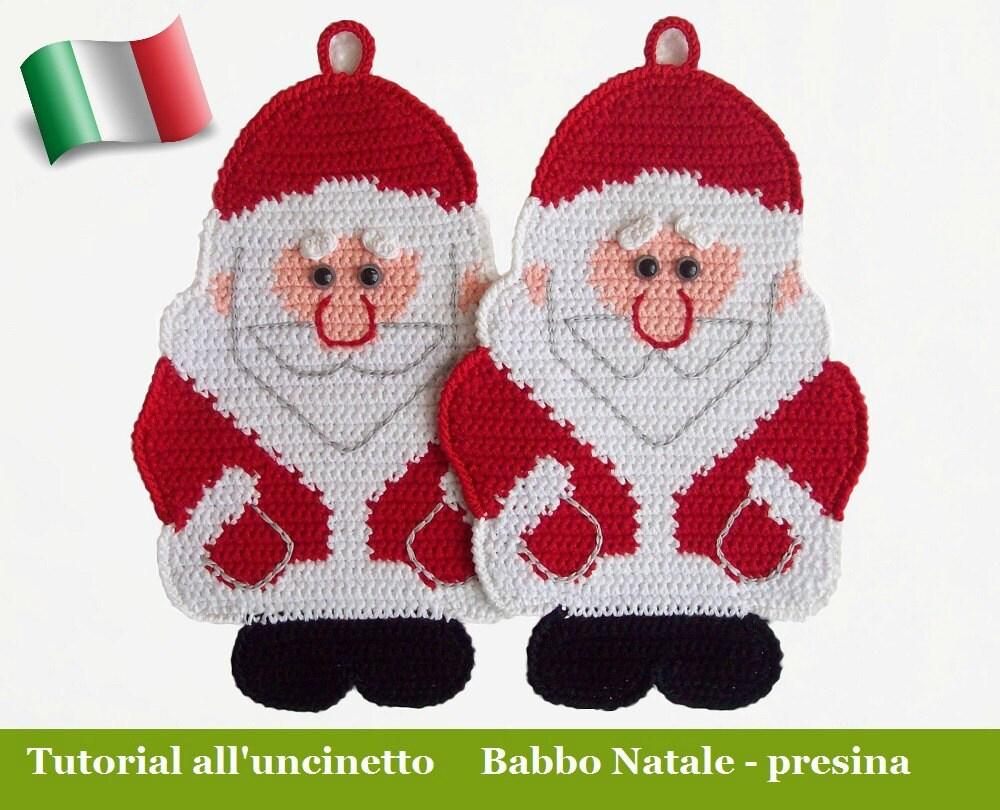 039it il tutorial all uncinetto babbo natale presina for Lavori natalizi uncinetto