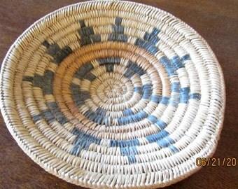 "Hand Woven Navajo Wedding Basket 10 3/4"""